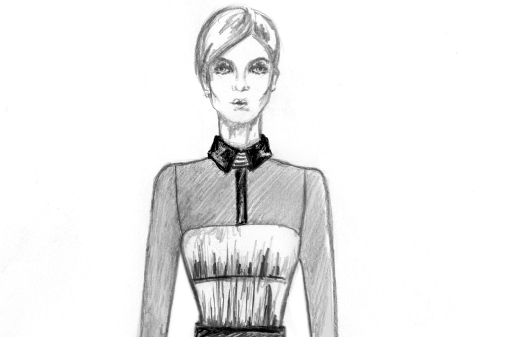 A sketch from Maxime Simoëns' fall 2013 collection.