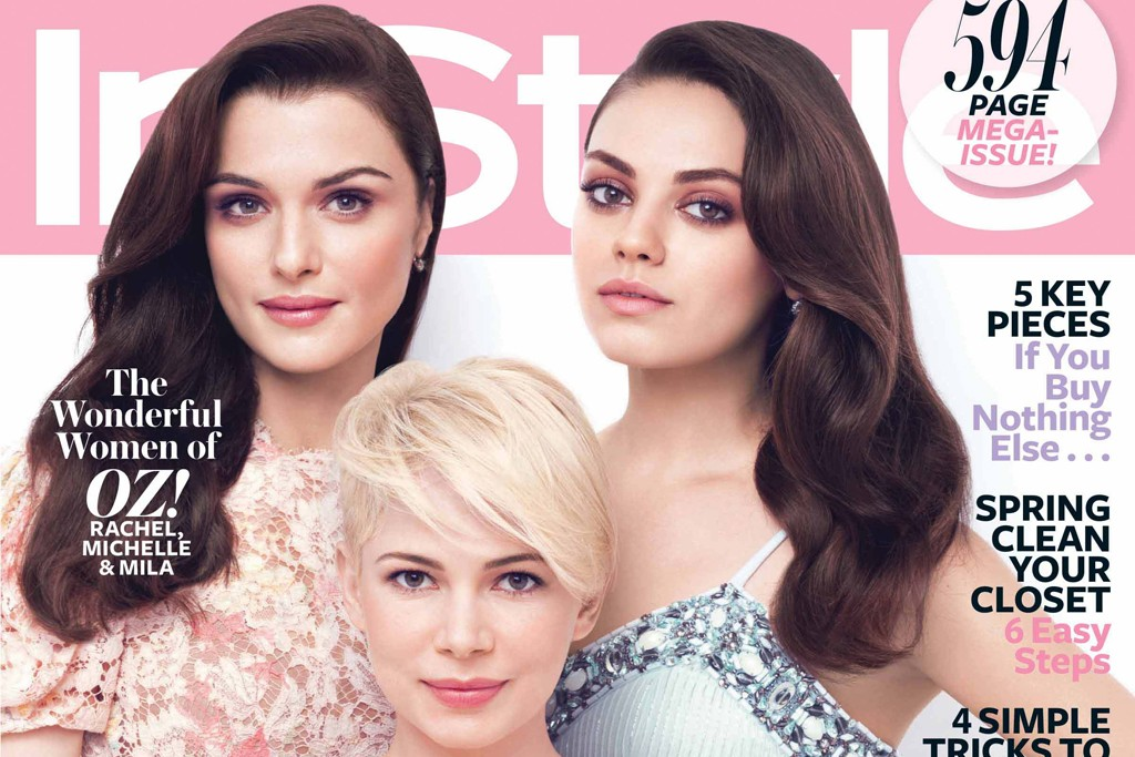 InStyle's March 2013 cover.