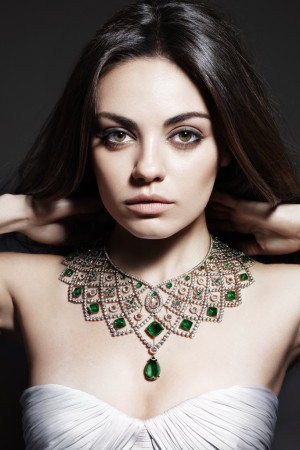 Mila Kunis in Gemfield's advertising campaign.