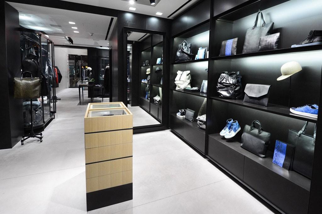 Inside the Lanvin men's boutique.