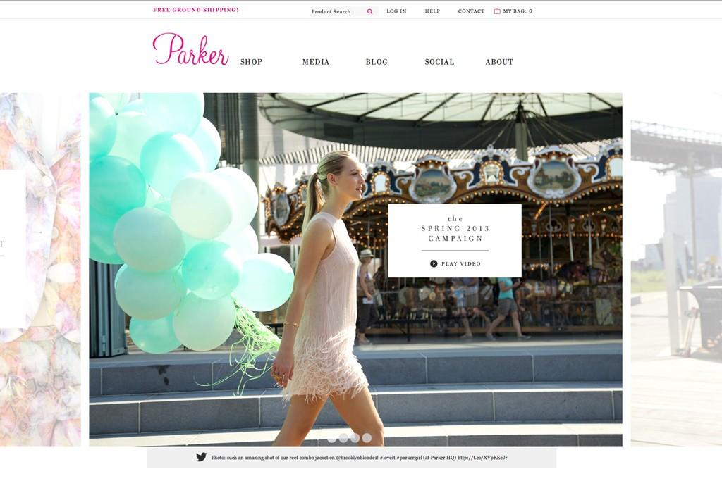 Parker's Web site.