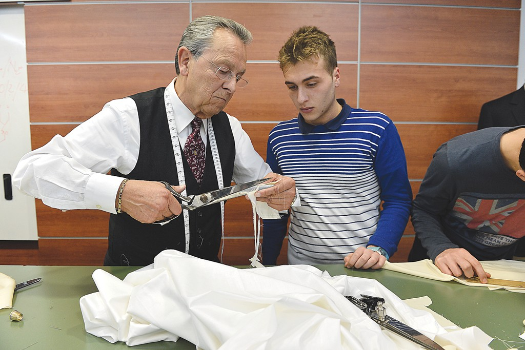 Brioni operates a school to ensure the tailoring tradition is passed on to future generations.