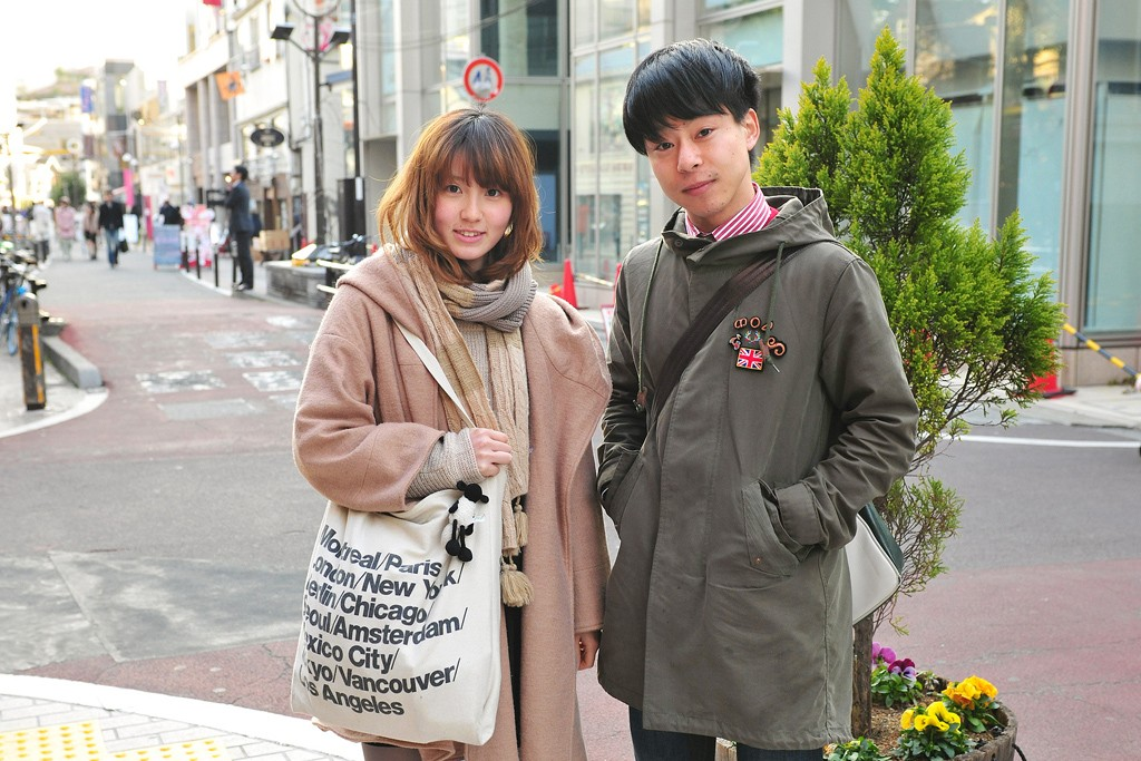 The American Apparel Cities bag on the street in Tokyo.