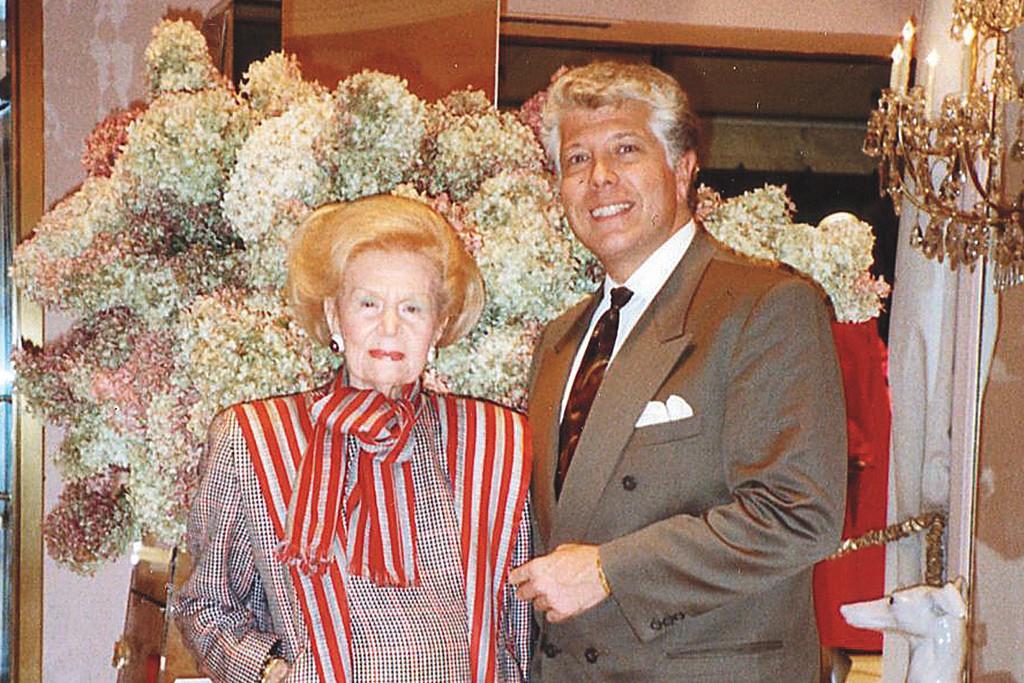 With Martha Phillips, the legendary proprietor of Martha on Park Avenue, 1990.