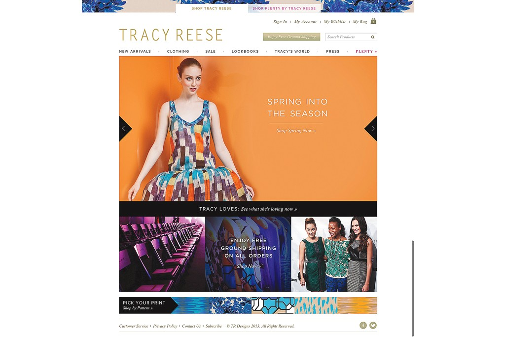 Tracy Reese's Web site.