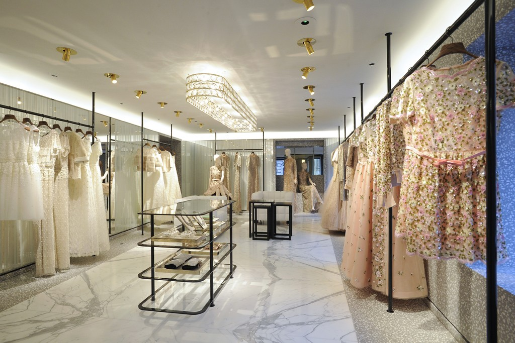 A view of the Valentino flagship in Paris.