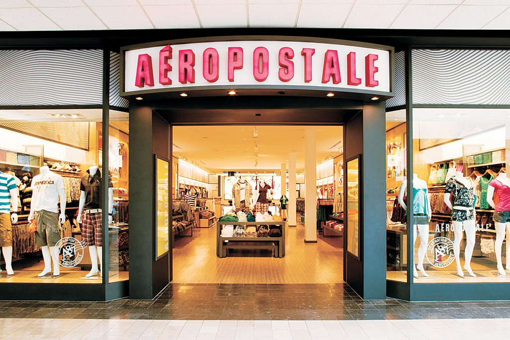 Exterior of an Aeropostale store.