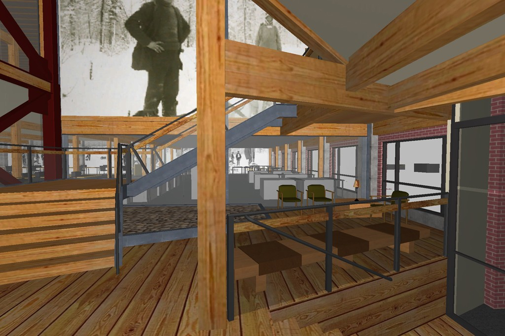 A rendering of the new Filson manufacturing and office building that opens in Seattle in May.