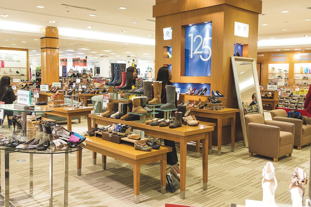 Belk's shoe areas have expanded by 50 to 100 percent, and 167 stores have the new prototype department, with more on the way.