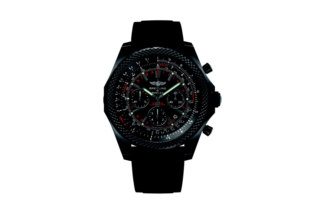 The Breitling for Bentley Light Body Midnight carbon watch.