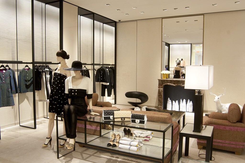 Interior of the Chanel store.