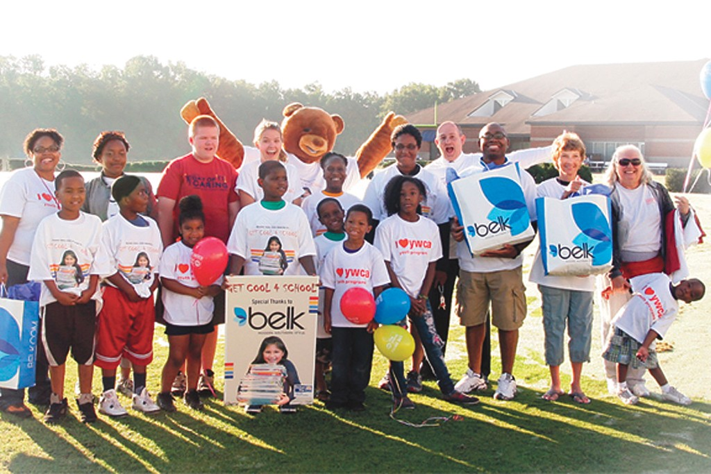 Belk donated 5,000 school uniforms to at-risk children in North Carolina and Mississippi in 2012.
