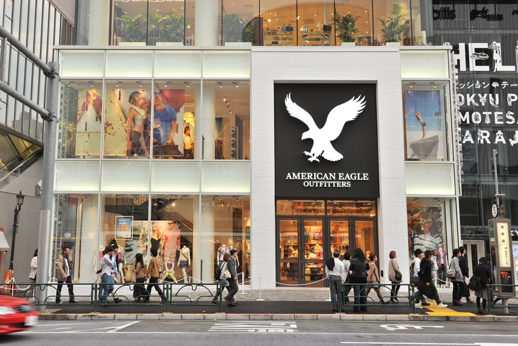 The American Eagle Outfitters store in Tokyo