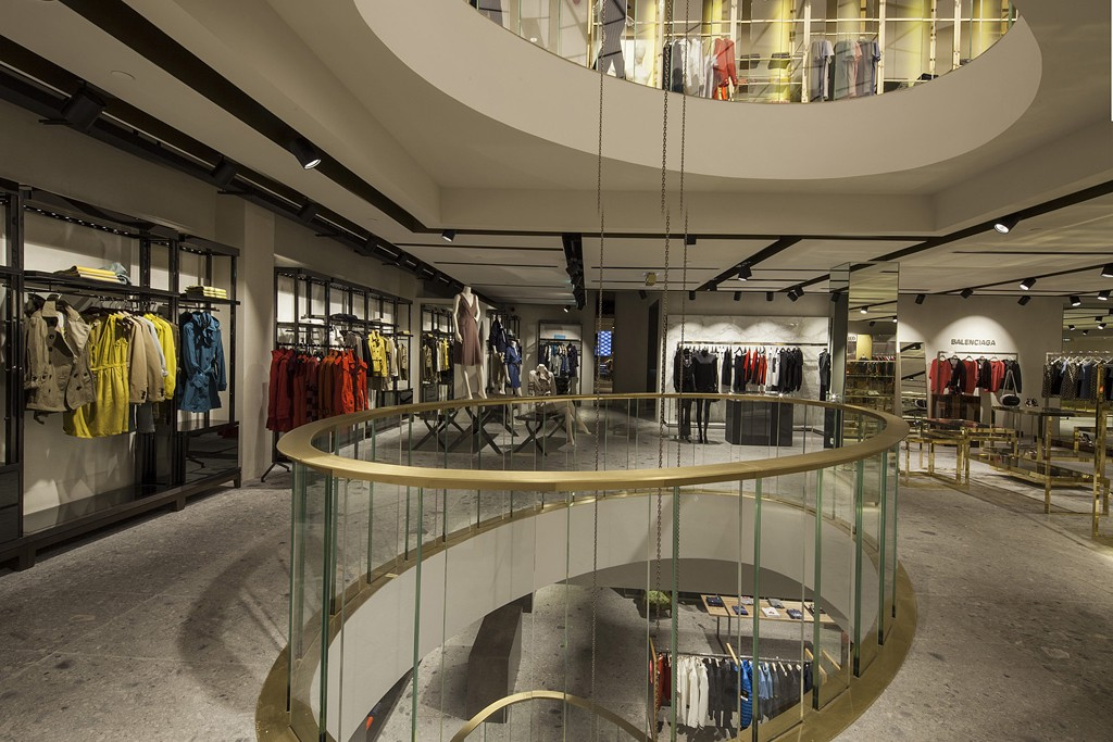 Interior of the Excelsior Milano store.