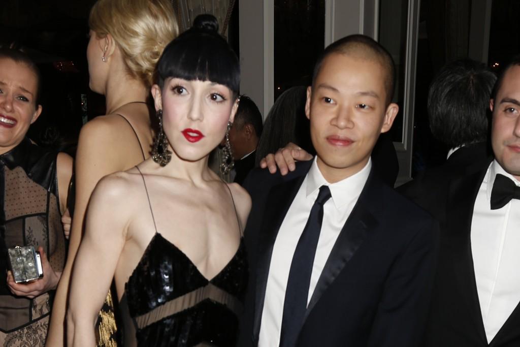 Michelle Harper in Jason Wu with the designer.