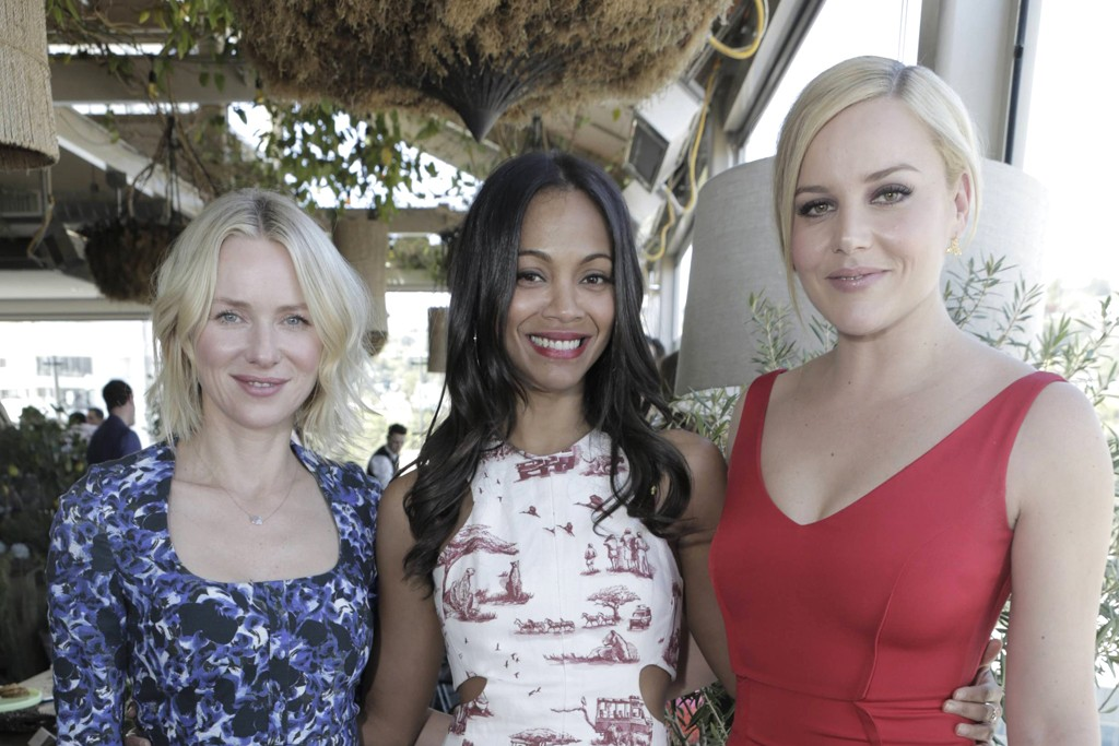 Naomi Watts in Erdem with Zoe Saldana in Carven and Abbie Cornish.