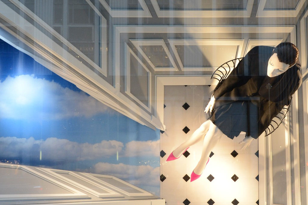 The new Dior windows at Bergdorf Goodman.