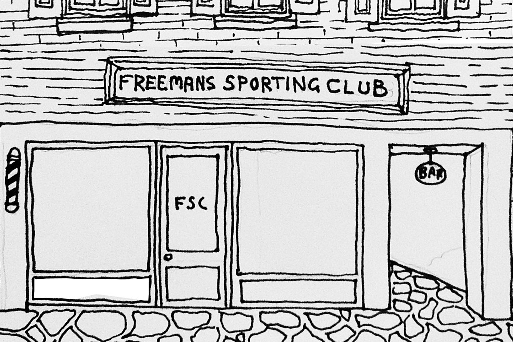 A sketch of the Freemans Tokyo store.