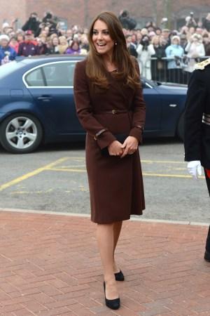 The Duchess of Cambridge in a Hobbs coat.