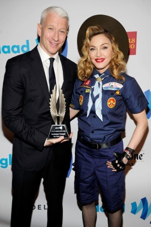 Anderson Cooper and Madonna