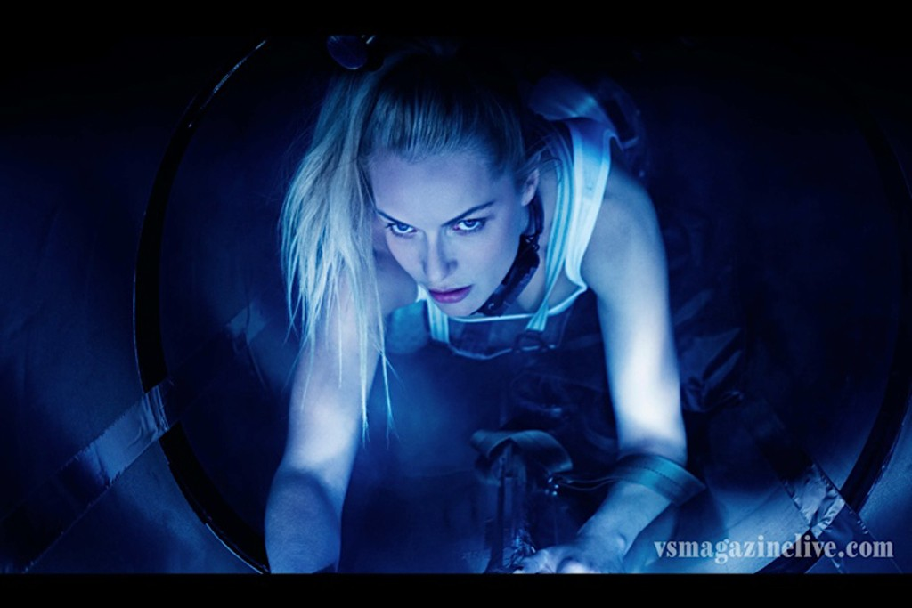 """A still from """"Devouring Art,"""" a fashion short film directed by Rie Rasmussen."""