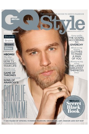 Charlie Hunnam on the cover of GQ Style.