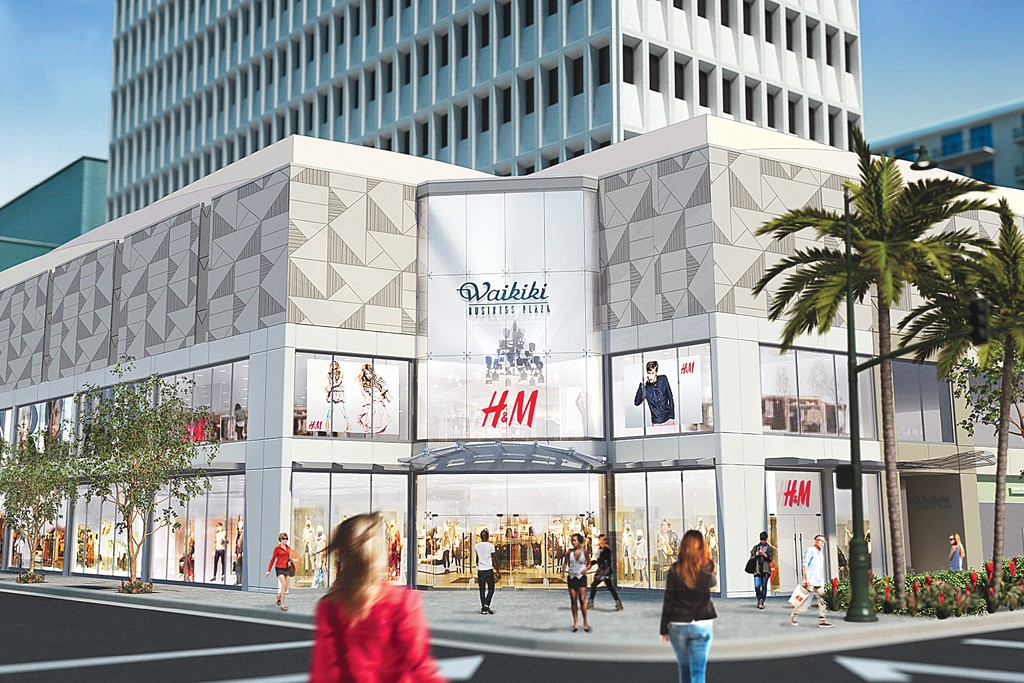 A rendering of H&M in Waikiki.