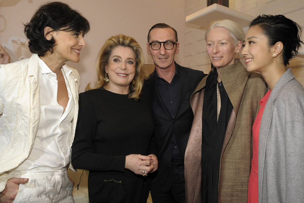 Inès de la Fressange, Catherine Deneuve, Bruno Frisoni, Tilda Swinton and Kwei Lun-Mei