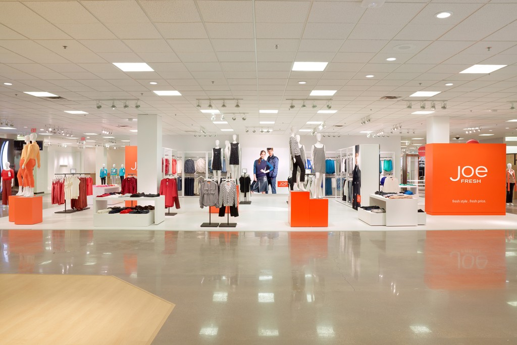 The Joe Fresh shop, inside Penney's prototype center at the store in the Valley View mall in Dallas.