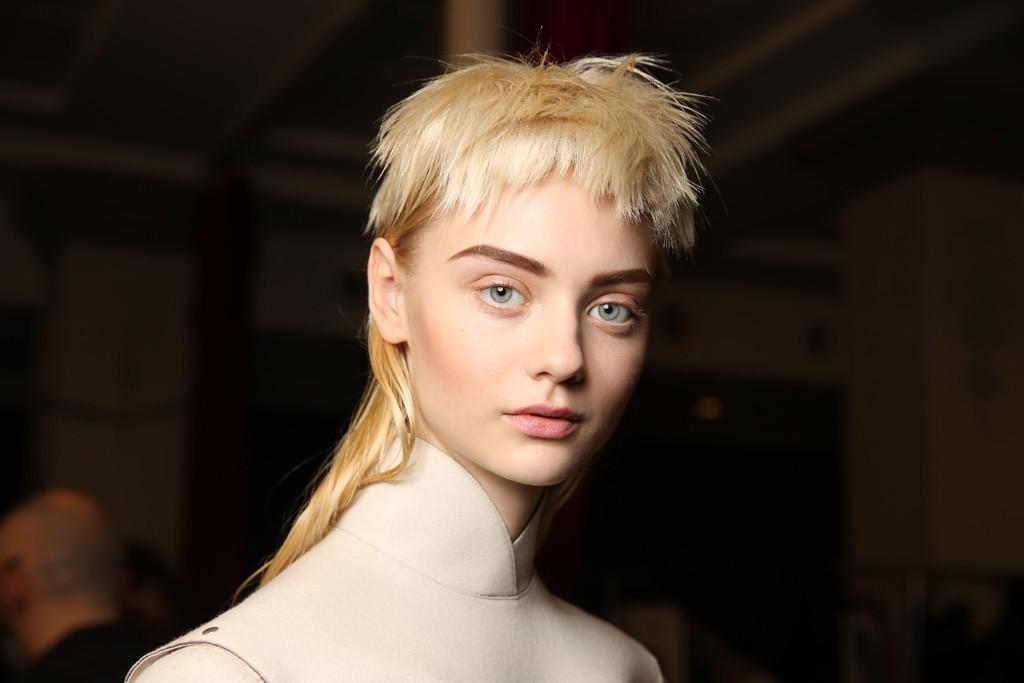 Jean Paul Gaultier Makeup artist: Lloyd Simmonds Hairstylist: Guido Palau