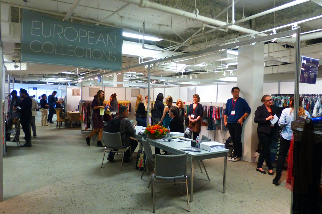 Shopping the Los Angeles International Textile Show.