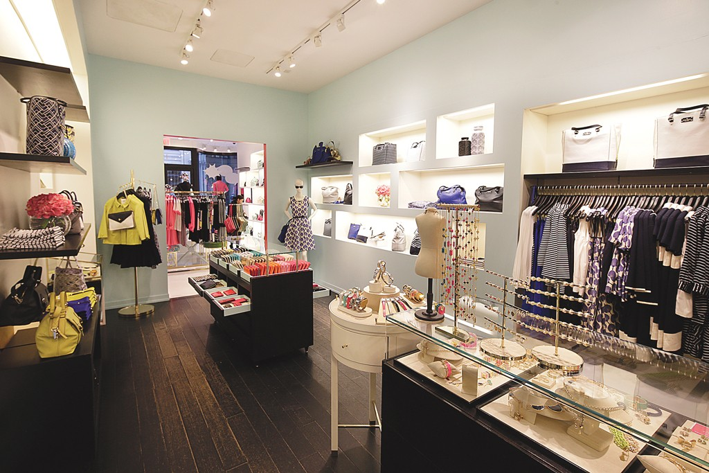 The Interior of a Kate Spade store.