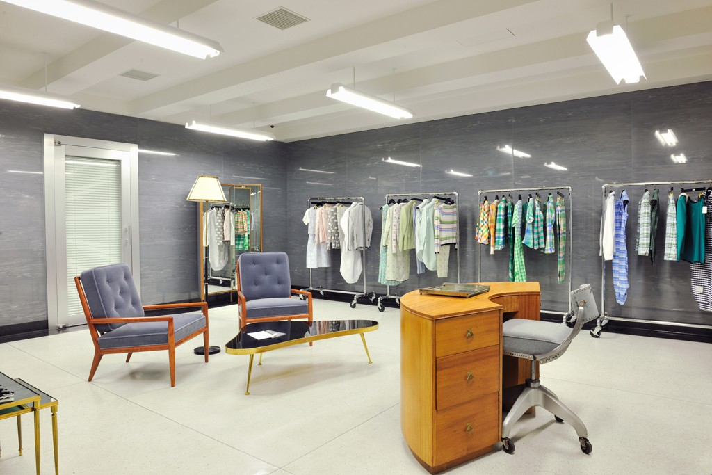 A view of the Thom Browne store in Tokyo.