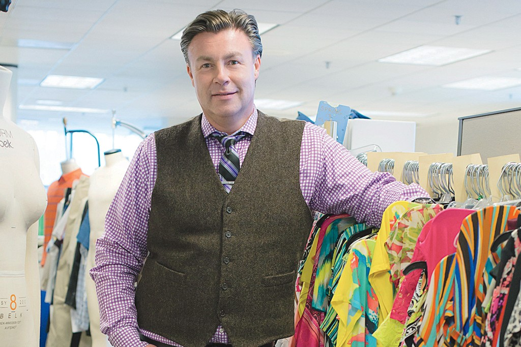 John Thomas in Belk's private-brand facility.