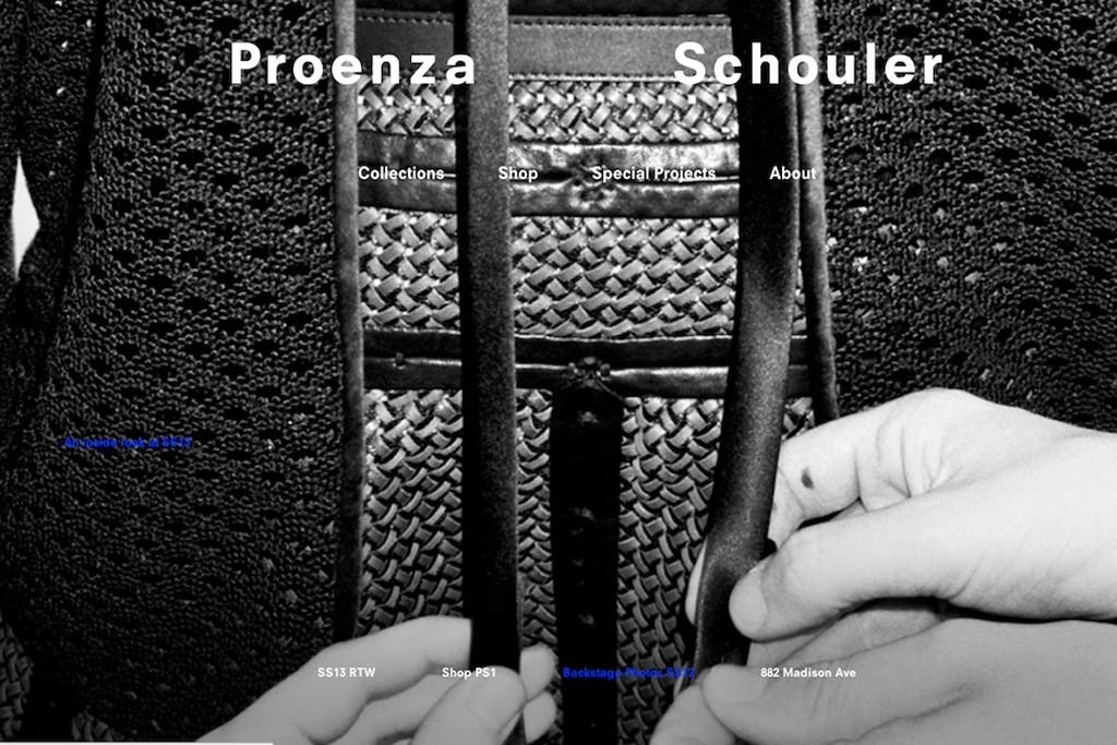 A Rendering of Proenza Schouler's site at proenzaschouler.com.