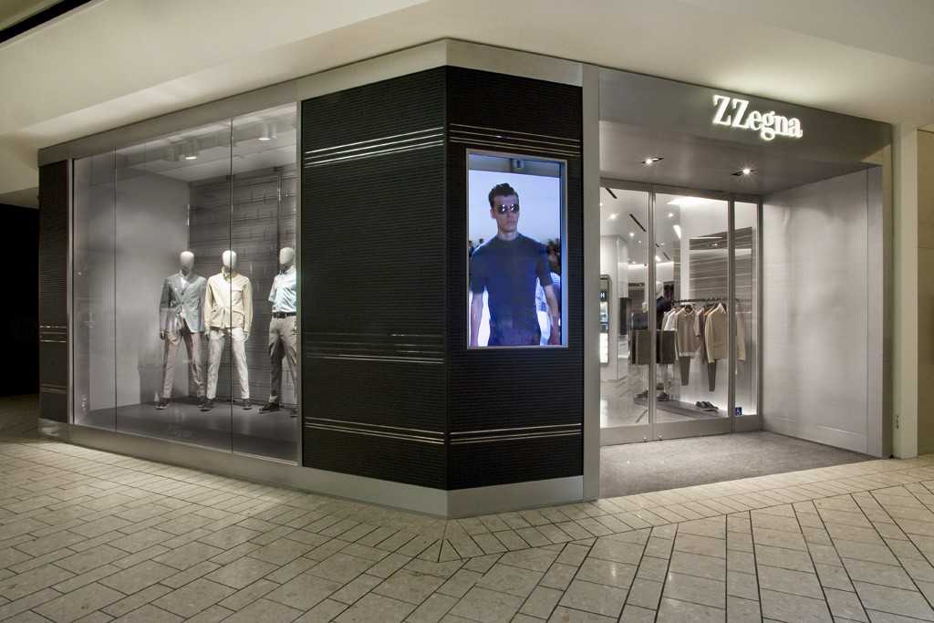 Exterior of Z Zegna store in the Beverly Center.