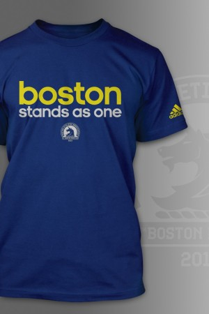 """Adidas' """"Boston Stands as One"""" T-shirt."""