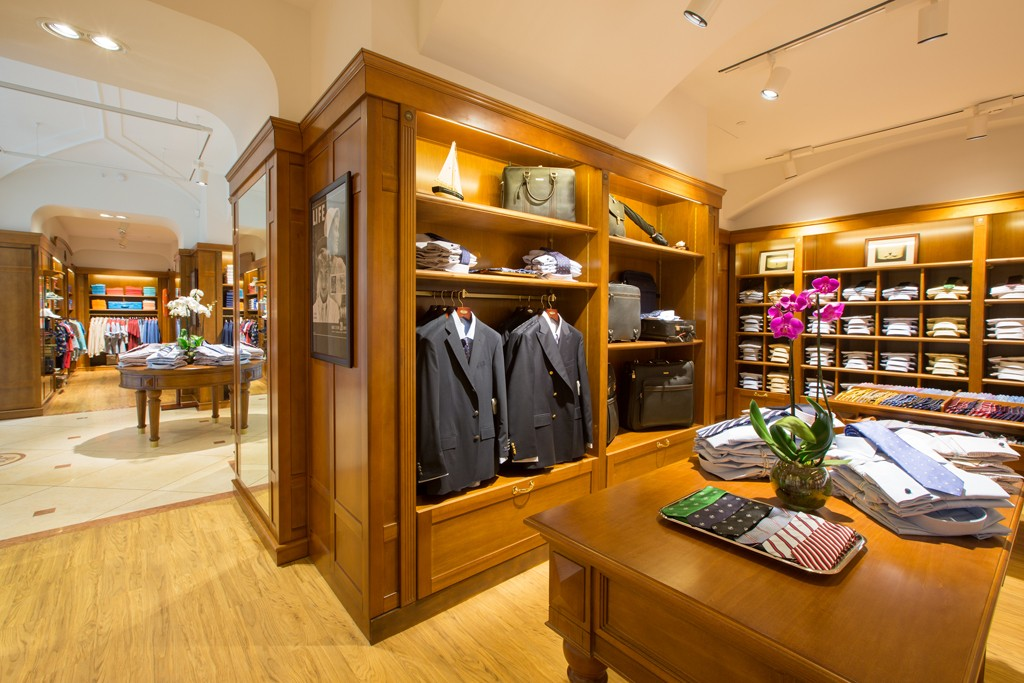 The Brooks Brothers store in Russia.
