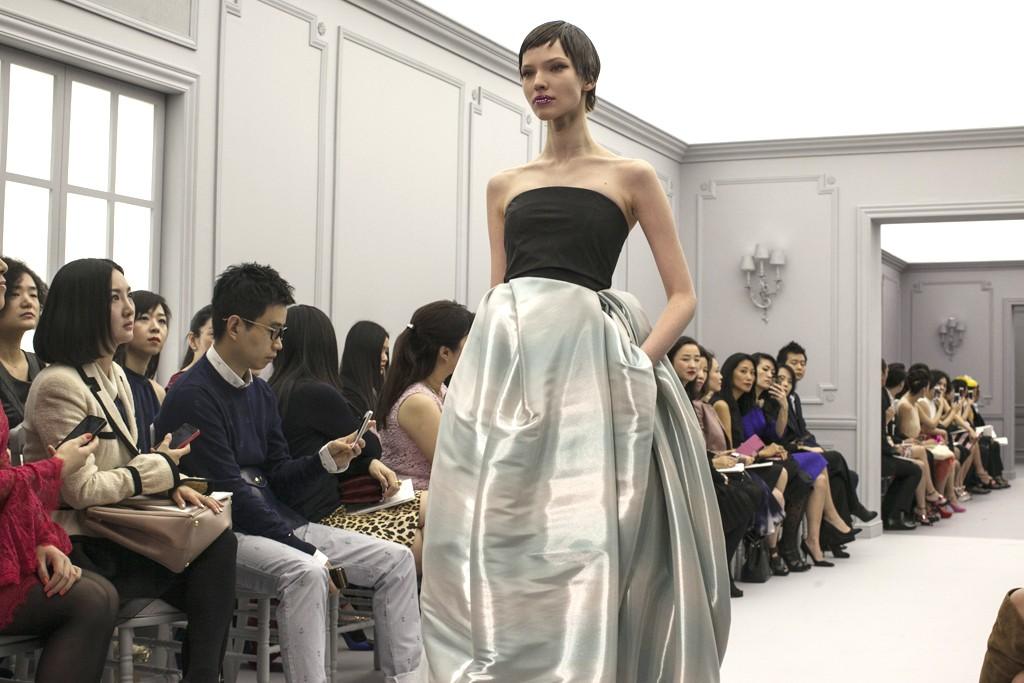 The Christian Dior presentation in Shanghai.