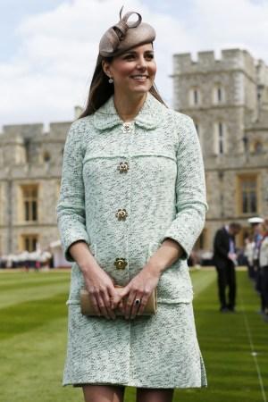 Duchess of Cambridge at Windsor Castle.