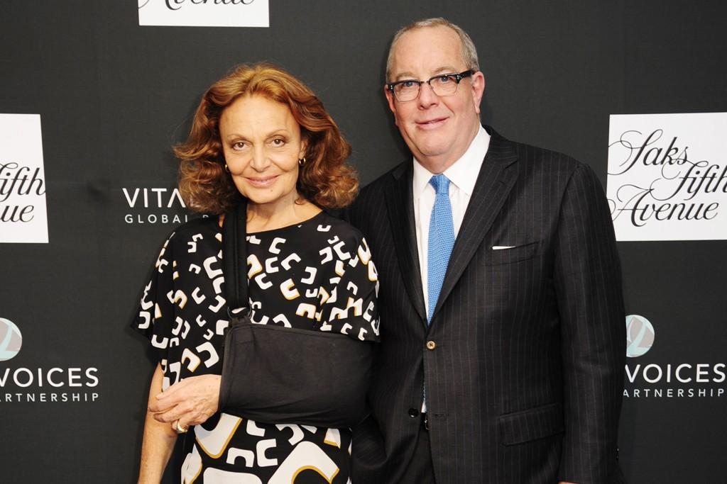 Diane von Furstenberg and Ron Frasch