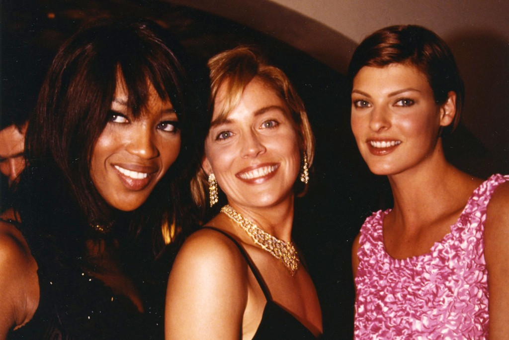 Naomi Campbell, Sharon Stone and Linda Evangelista