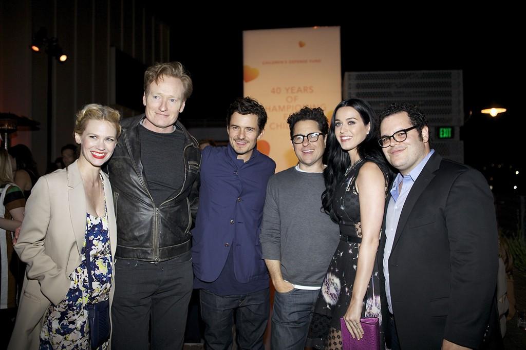 January Jones, Conan O'Brien, Orlando Bloom, J.J. Abrams, Katy Perry and Josh Gad.