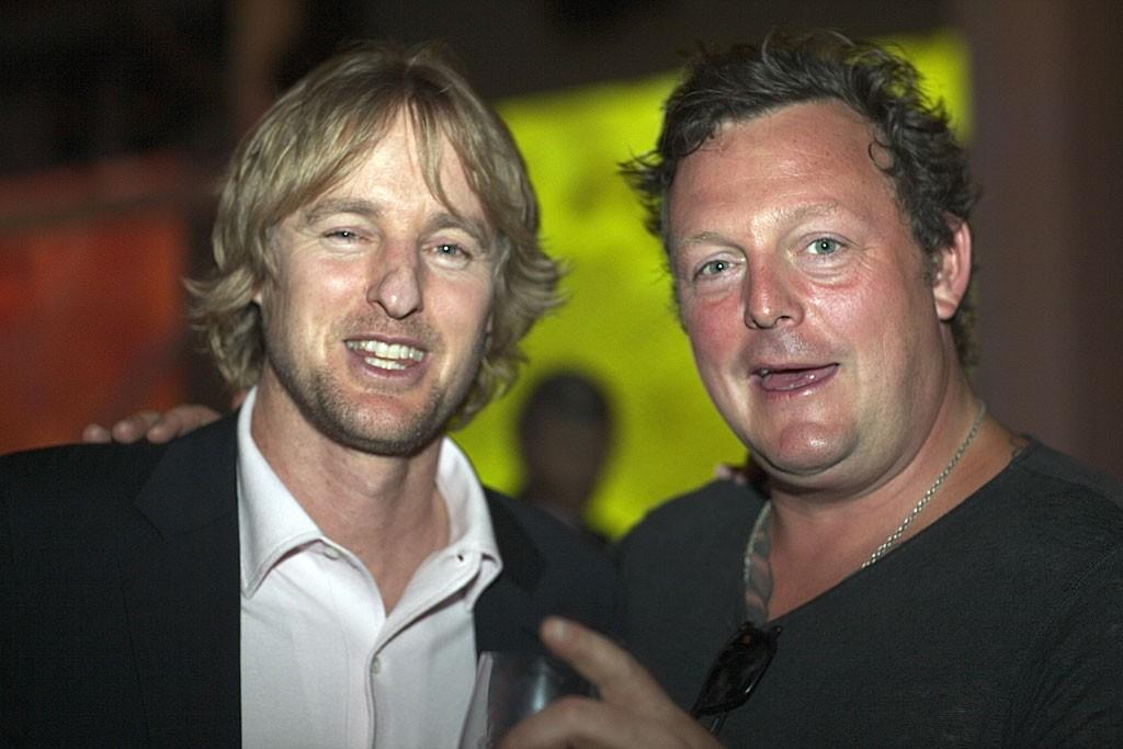 Owen Wilson and Urs Fischer