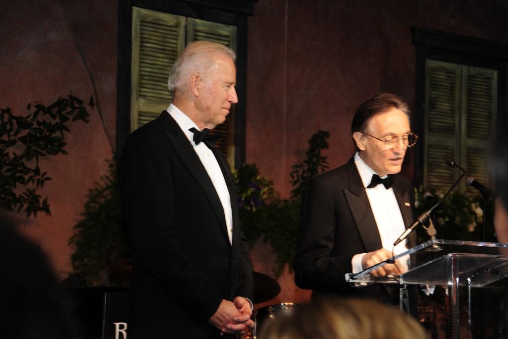 Vice President Joe Biden and Claudio Bisogniero