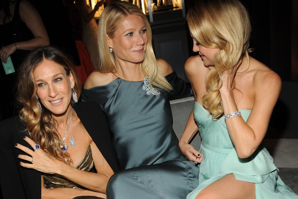 Sarah Jessica Parker in Tiffany & Co., Gwyneth Paltrow in Ralph Lauren and Kate Hudson in Reem Acra.