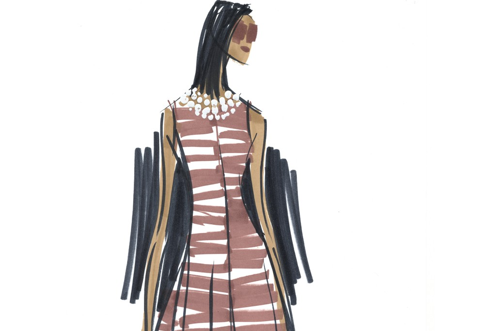A dress from the Banana Republic Issa London collection.