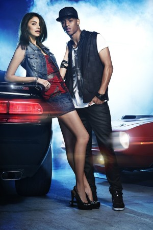 """An ad visual for G by Guess' line inspired by """"Fast & Furious 6."""""""