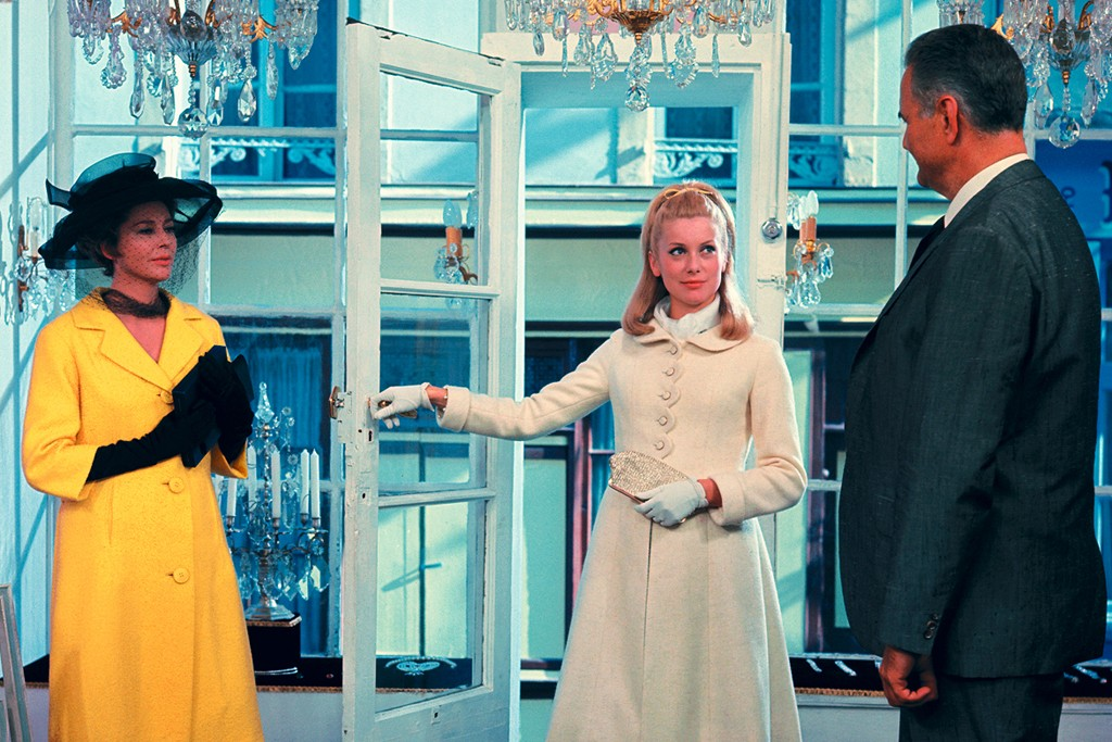 "A still from ""The Umbrellas of Cherbourg."""