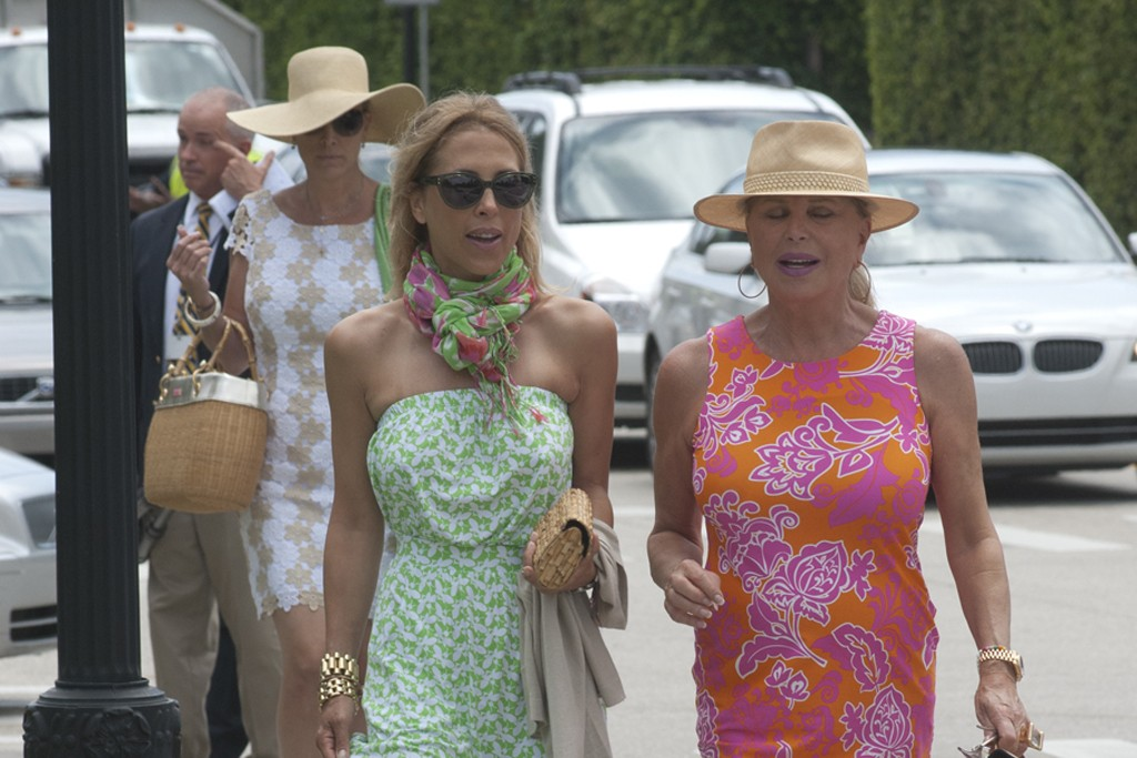 Lilly Pulitzer-clad guests at the designer's memorial service in Palm Beach, Fla. on Thursday.